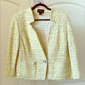 ST. JOHN Yellow multi jacket - like NEW